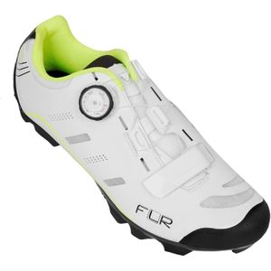 FLR F-75 MTB Schoen Wit/NeonGeel 44