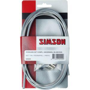 Simson remkabel uni cpl RVS zilver
