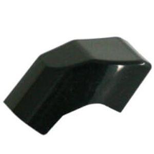 Axa knopje Solid zwart haaks