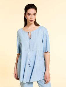Marina Rinaldi Sport Blouse blauw V-hals BATIK