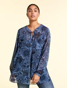 Marina Rinaldi Sport Blouse met batikprint FAVORIRE