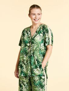 Marina Rinaldi Sport Blouse met groen print FILARE
