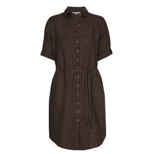 Xandres Gold Blouse-jurk linnen bruin KABIB