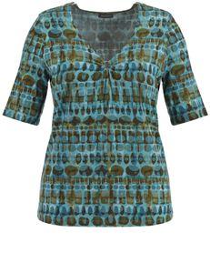 Samoon Shirt V-hals retro