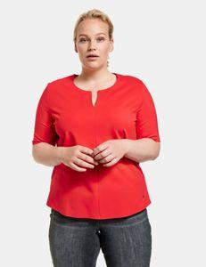 Samoon Shirt met V-hals