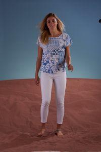 Open End Shirt met blauwe print