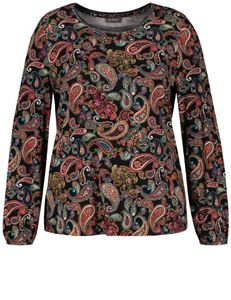 Samoon Shirt met paisleymotief