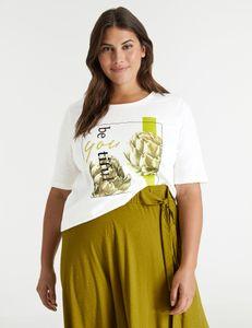 Samoon Shirt met print Beautifull
