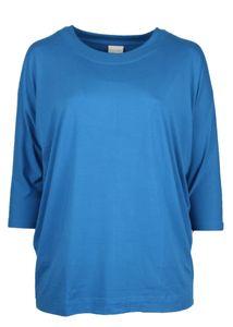 Sallie Sahne Shirt ronde hals blauw OLIX