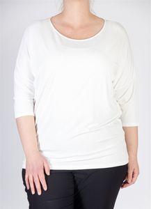 Sallie Sahne Shirt ronde hals ecru QIAN