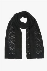 Xandres Gold Sjaal gebreid zwart X-ALPER