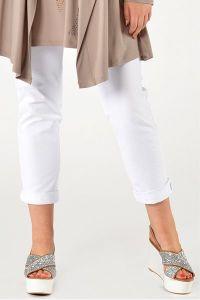 Yoek Trousers slimfit stretch white