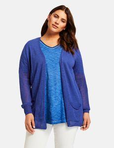 Samoon Vest met zakken blauw