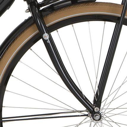 Cortina voorvork 28 Milo H65 m zwart
