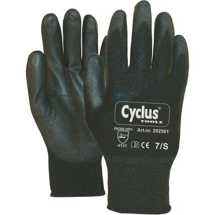 Cyclus handschoen WP S zw/rood