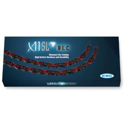 KMC achterwielX11 SL DLC zw/rood