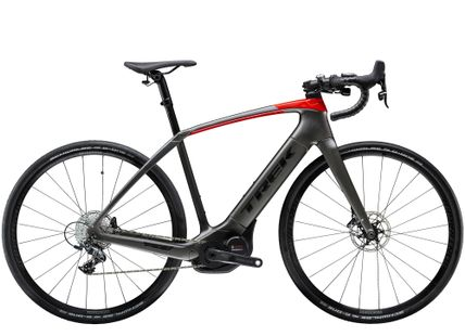 Trek Domane + EU 58 Matte Black/Gloss Red