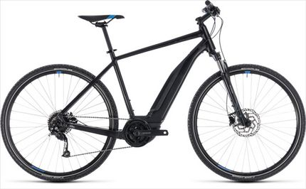 CUBE CROSS HYBRID ONE 400 BLACK/BLUE 2018 58 CM