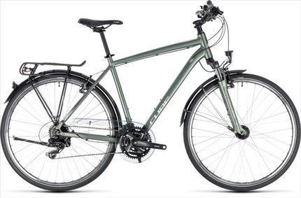 CUBE TOURING GREEN/SILVER 2018 58 CM