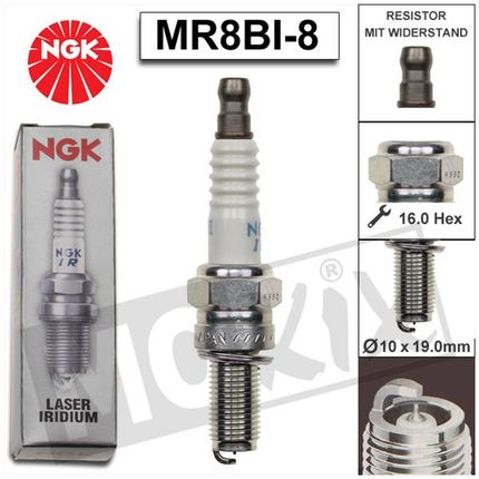 Bougie NGK MR8BI-8 Piaggio I-Get E4