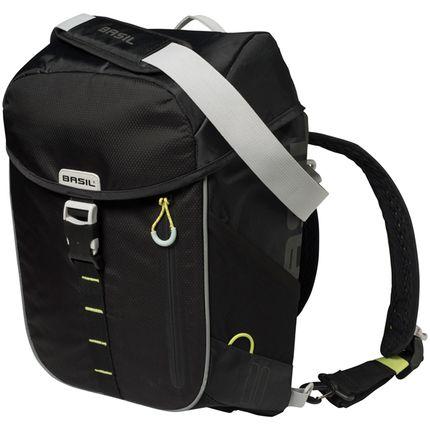 Basil daypack tas Miles black lime