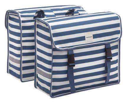 New Looxs dubbele tas Fiori Blue stripe