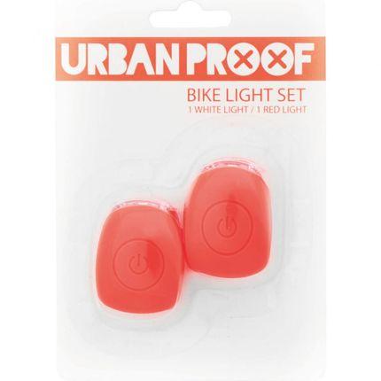UP Siliconen LED Fietslampjes set Koraal roze