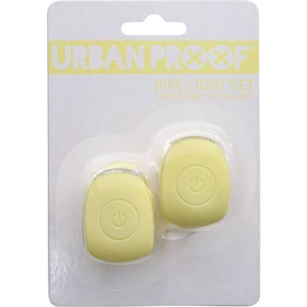 UP Siliconen Fietslampjes set Pastel geel