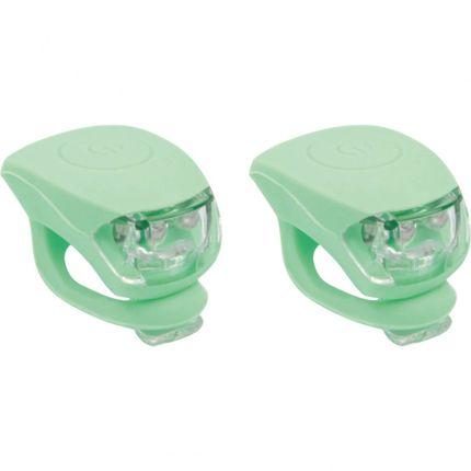UP Siliconen Fietslampjes set Pastel groen