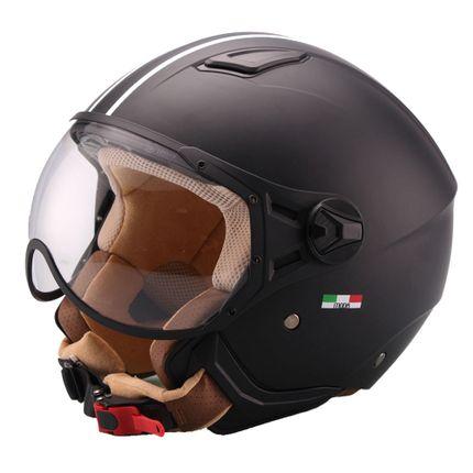 Helm Vito Moda Jet Zwart-Mat/Bruin - XL