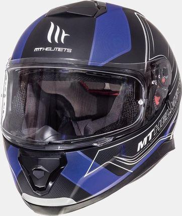MT Helm Thunder III SV Trace Zwart/Blauw - XL
