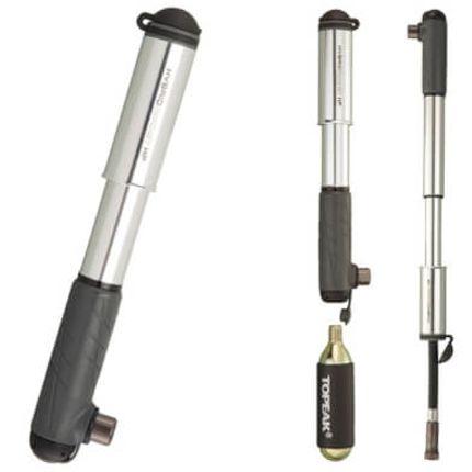 Topeak minipomp Hybrid Rocket HP zilver