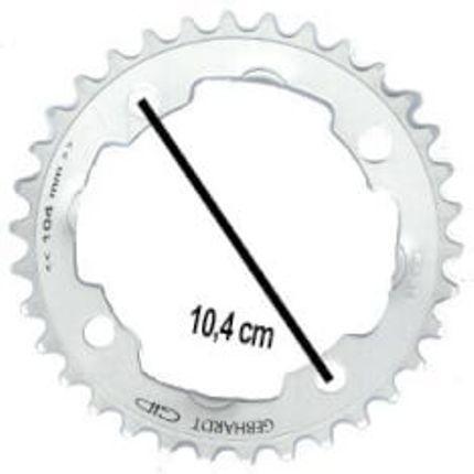 Gebhardt achterwielblad 32t 4gts zilver 9sp