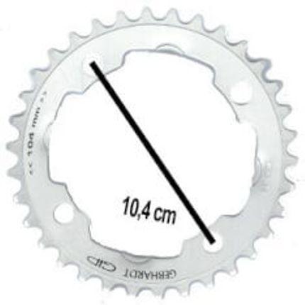 Gebhardt achterwielblad 42t 4gts zilver 9sp