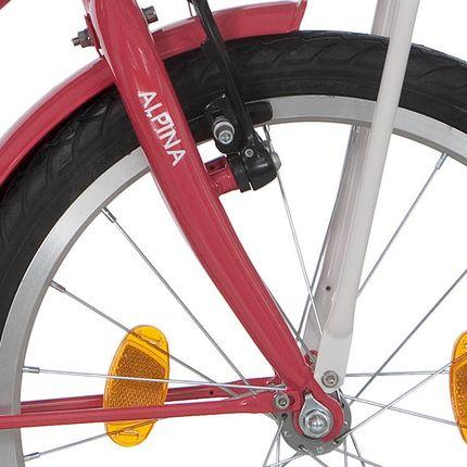Alpina voorvork 18 Cargo M strawberry red