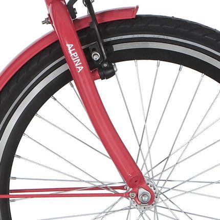 Alpina voorvork 22 GP strawberry red