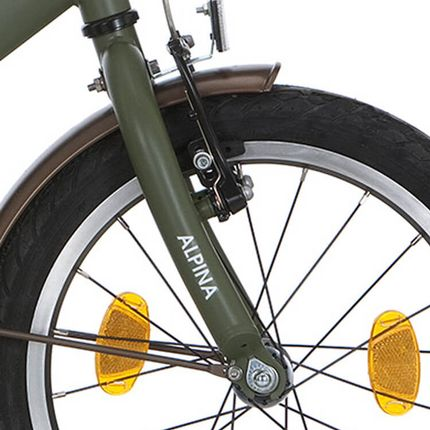 Alpina voorvork 16 GP army green matt