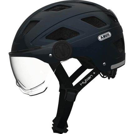 Abus helm Hyban+clear visor, midn blue M 52-58