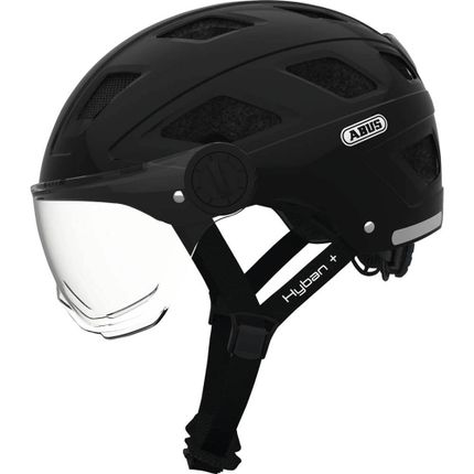 Abus helm Hyban + clear visor, black M 52-58