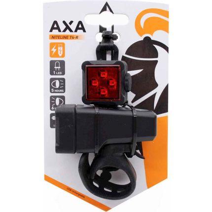 Axa led lamp voor+achter niteline t4-r usb oplaadb