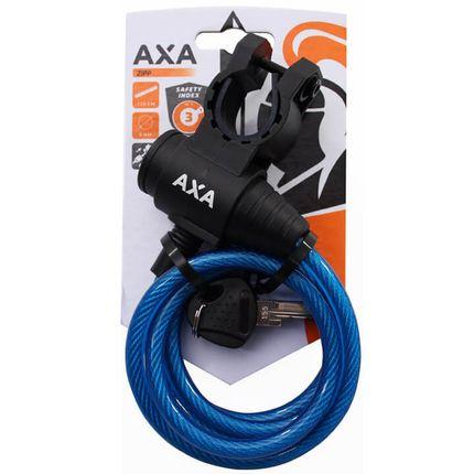 Axa spir kabelslot Zipp 120/8 blauw