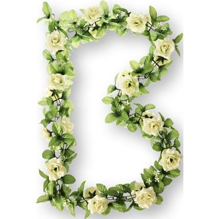 Basil bloemslinger rozen wit
