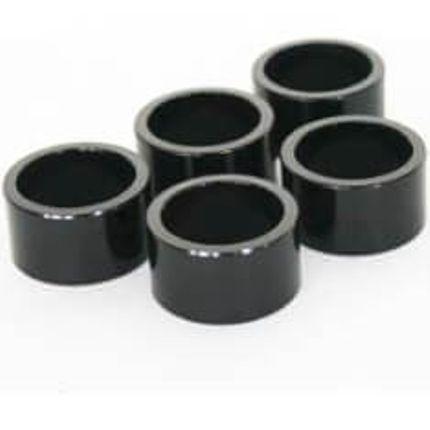 zak Spacer 1 1/8 20mm aluminium zwart