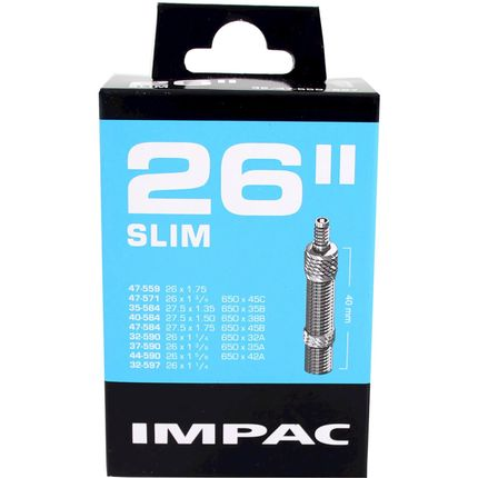 Impac binnenband DV26 Slim 26 x 1 1/4 - 27.5 x 1.75 hv 40mm