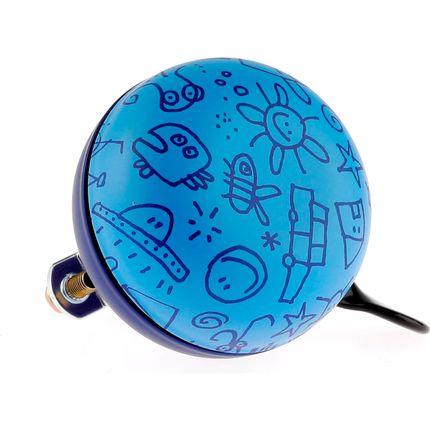 Fietsbel Ding Dong Upside Down 60 mm - mat blauw