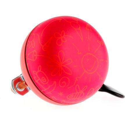 Fietsbel Ding Dong Upside Down 60 mm - mat rood