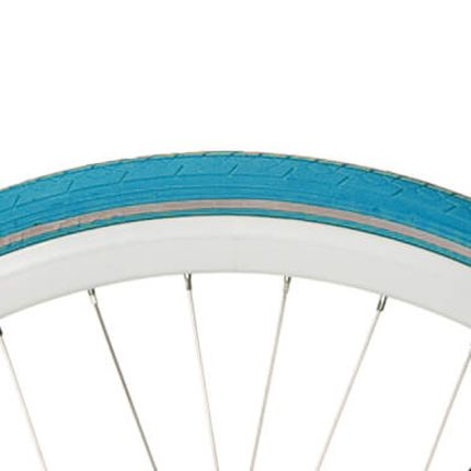 Deli Tire buitenband S-604 28 x 1 1/2 licht blauw refl