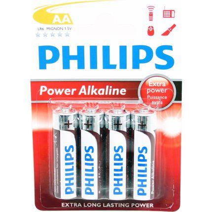 Philips batt R6 AA Alk 1,5V krt