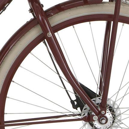 Cortina voorvork U4 D wine red