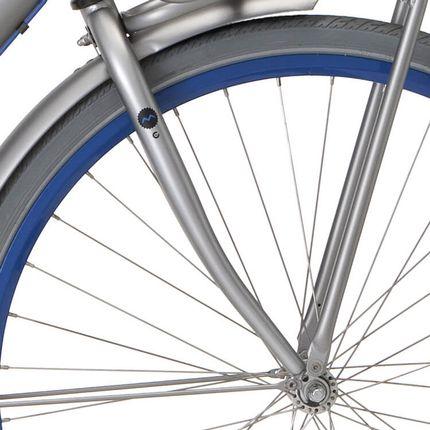 Cortina voorvork 28 Milo shadow silver matt